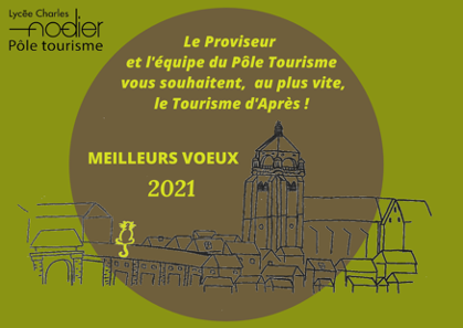 Voeux 2021 bts tourisme Dole