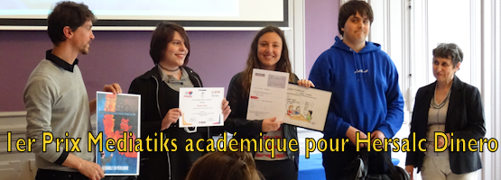 1er Prix Mediatiks académique pour Hersalc Dinero